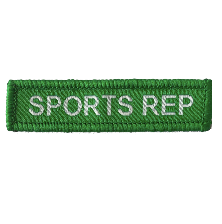 Sports Rep Woven Patch Green
