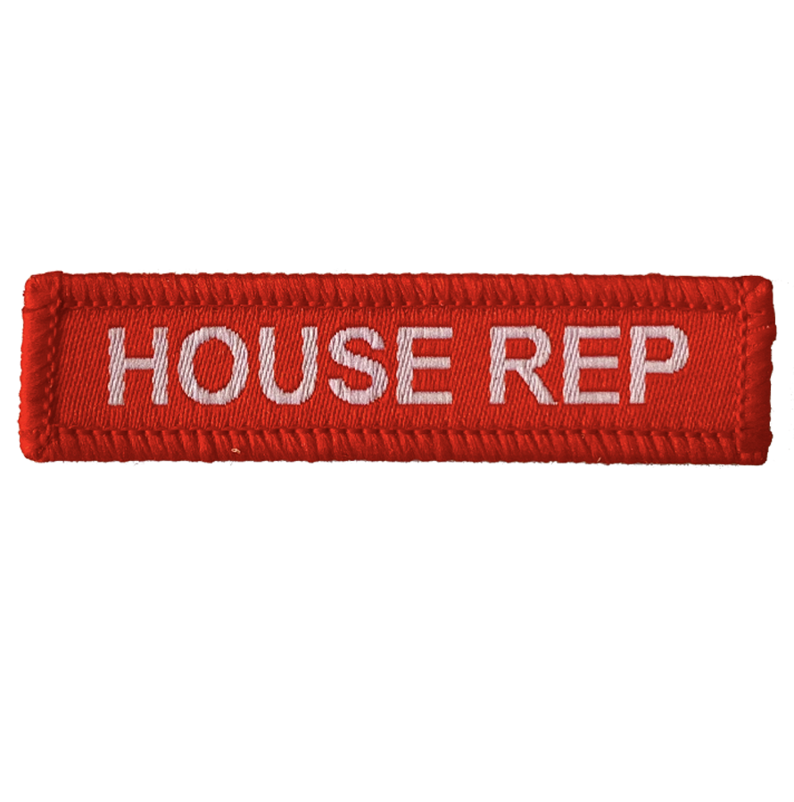 House Rep Woven Patches red