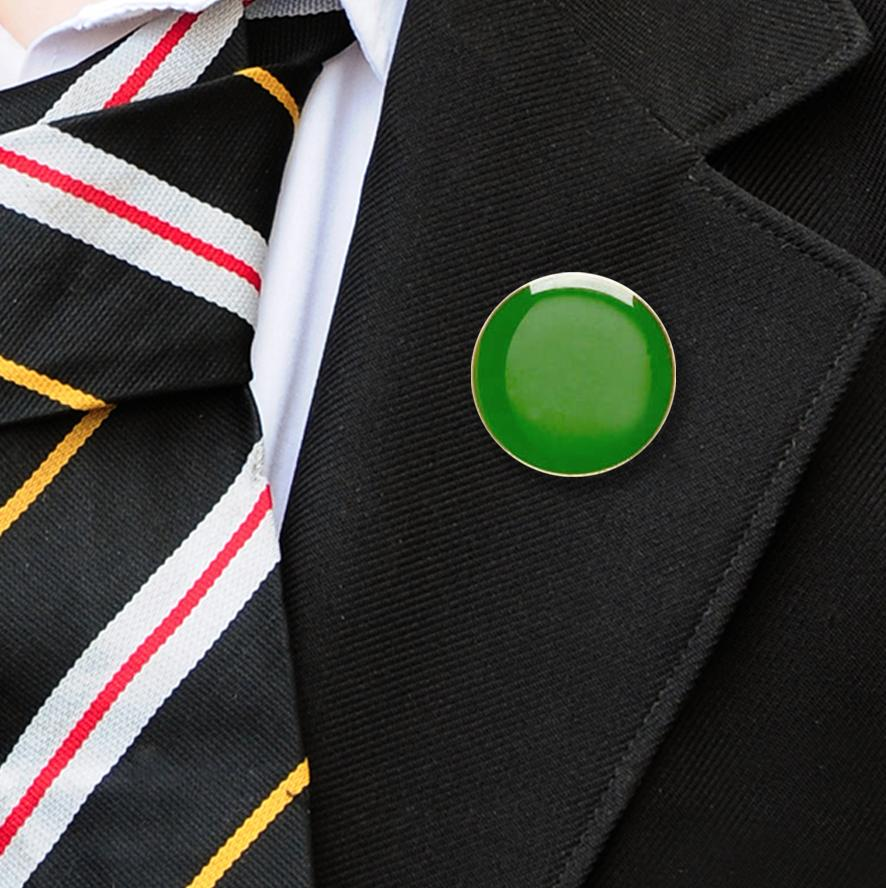 Round enamel badges green