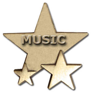 Triple Star Badge - MUSIC
