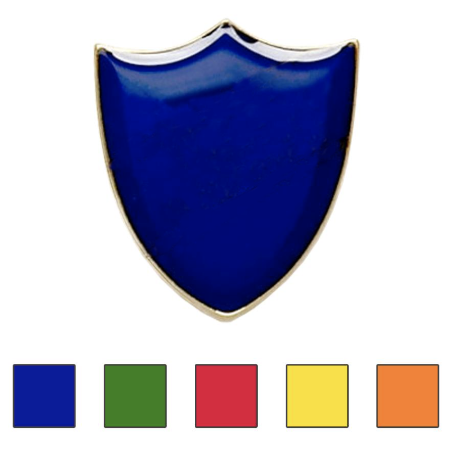 Plain shield badges