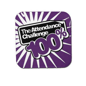 100% Purple Attendance Challenge Badge