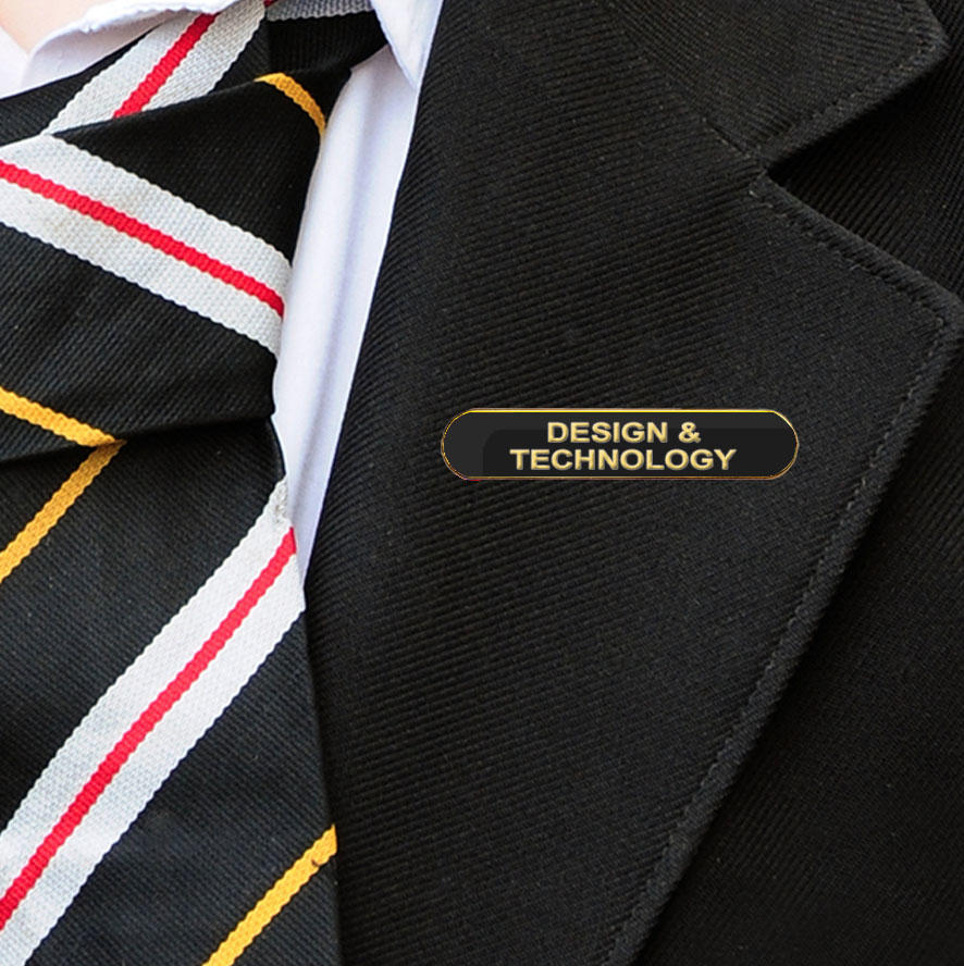 Black Bar Shaped Design & Technology Badge