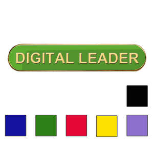 Coloured Bar Shaped Digital Leader Badges