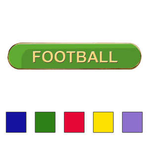 Coloured Bar Shaped Football Badges