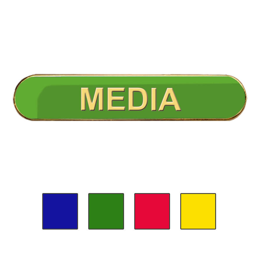 Coloured Bar Shaped Media Badges