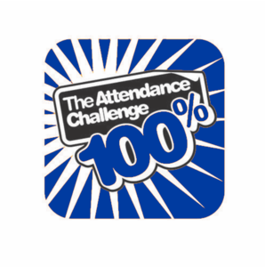 100% Blue Attendance Challenge Badge