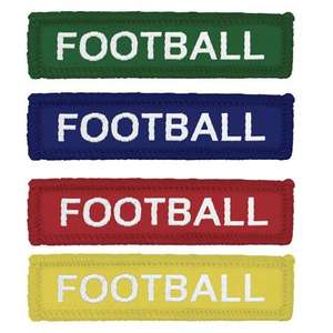 Coloured Woven Football Badges