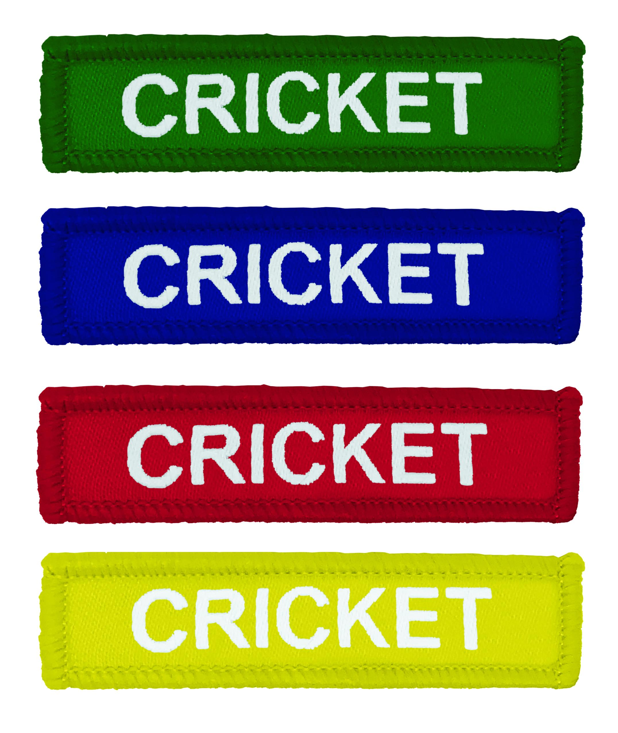 Coloured Woven Cricket Badges
