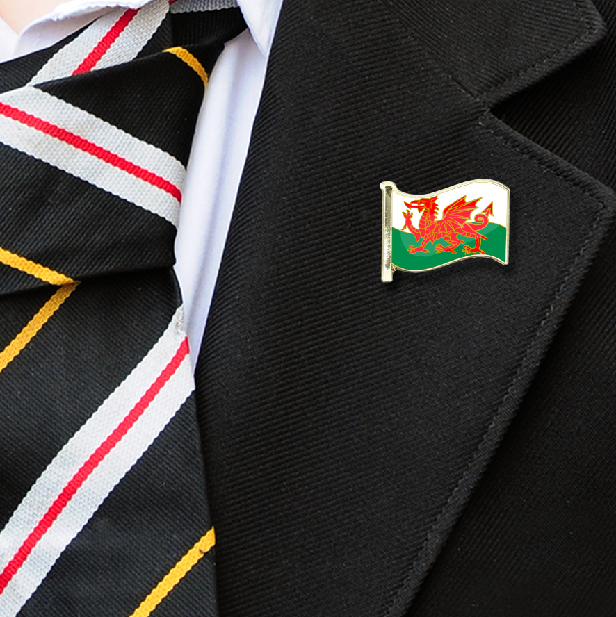 Wales Flag Badge on Lapelle