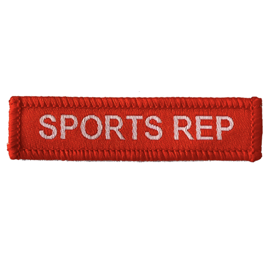 Sports Rep Woven Patch Red