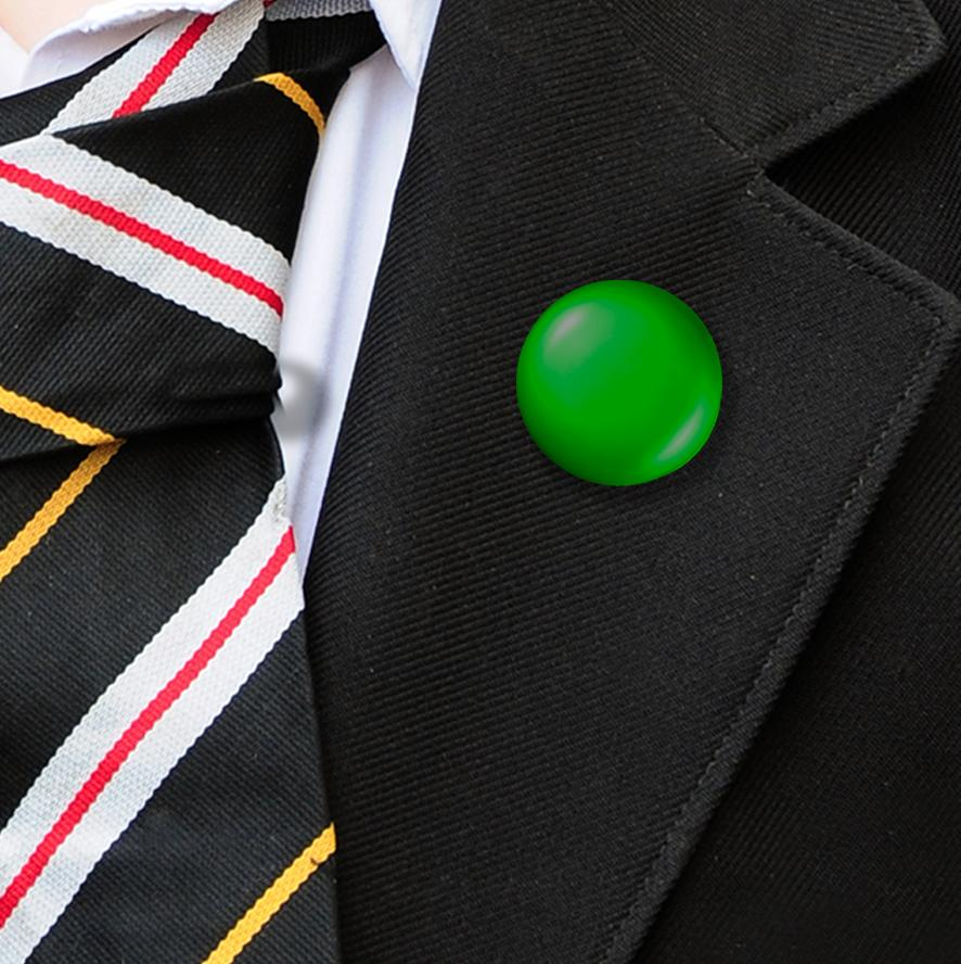 Plastic Button Badges Green