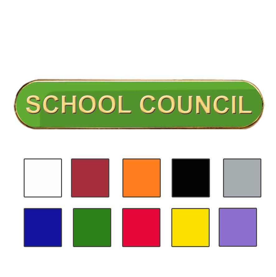 Coloured Bar Shaped School Council Badges