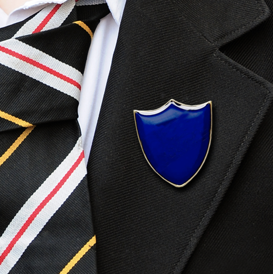 Plain shield badges blue
