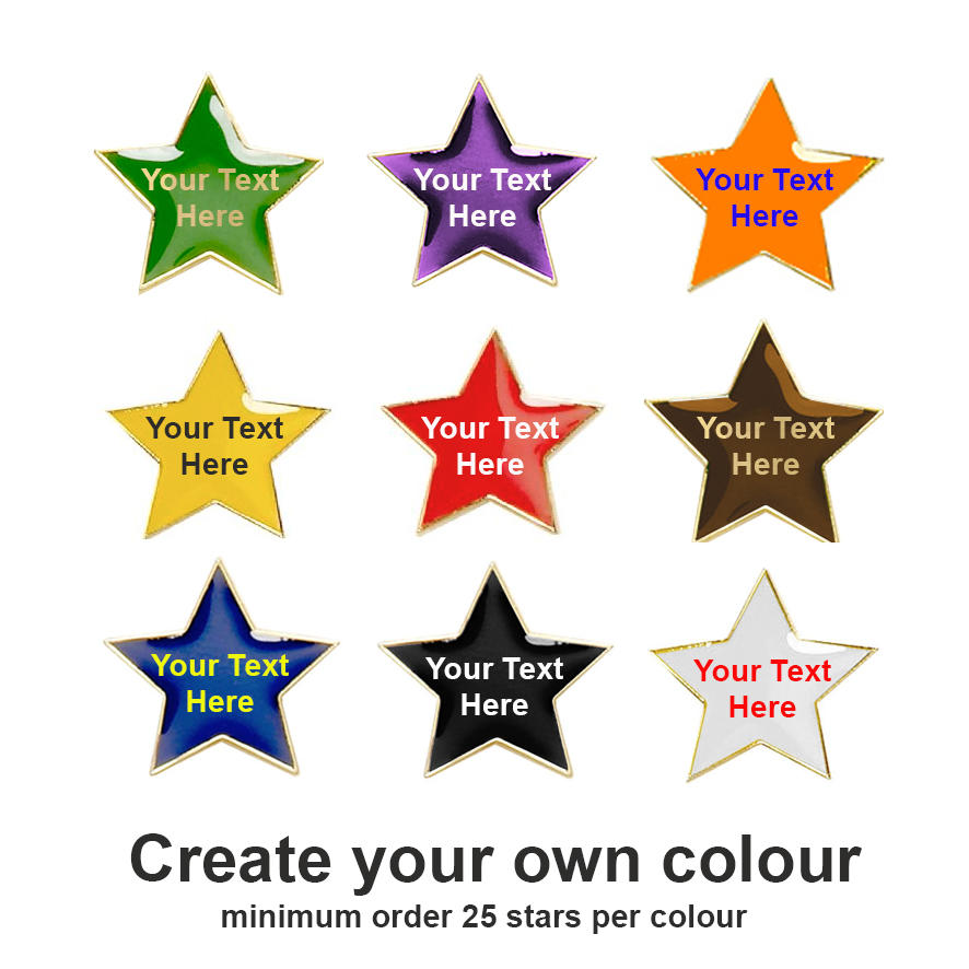 Create your own Star Badges (Coloured)