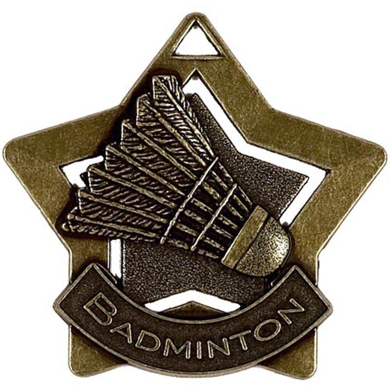 Bronze Badminton Star Badge
