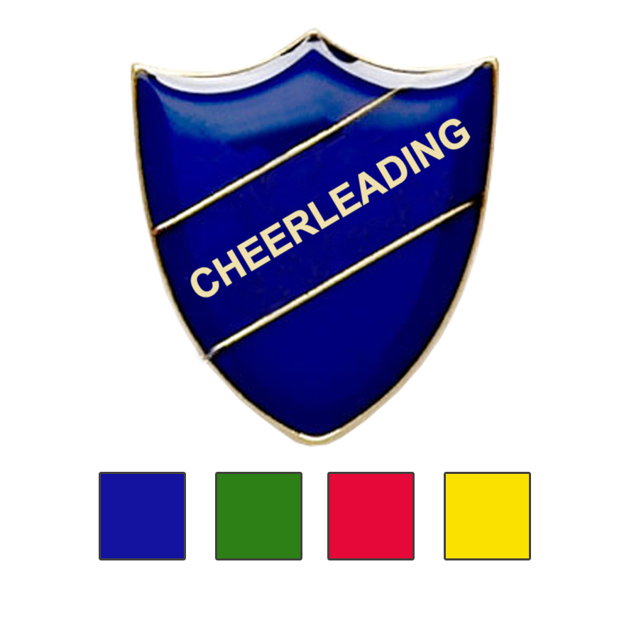 Cheerleading school badges
