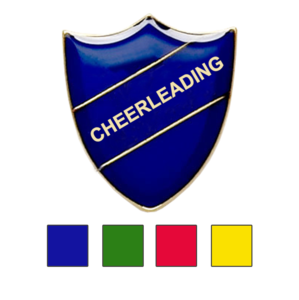 Coloured Shield Shaped Badges Cheerleading Badges
