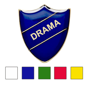 Coloured Shield Shaped Badges Drama Badges