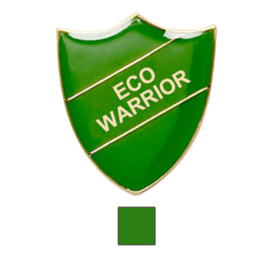 Eco Warrior school badge shield