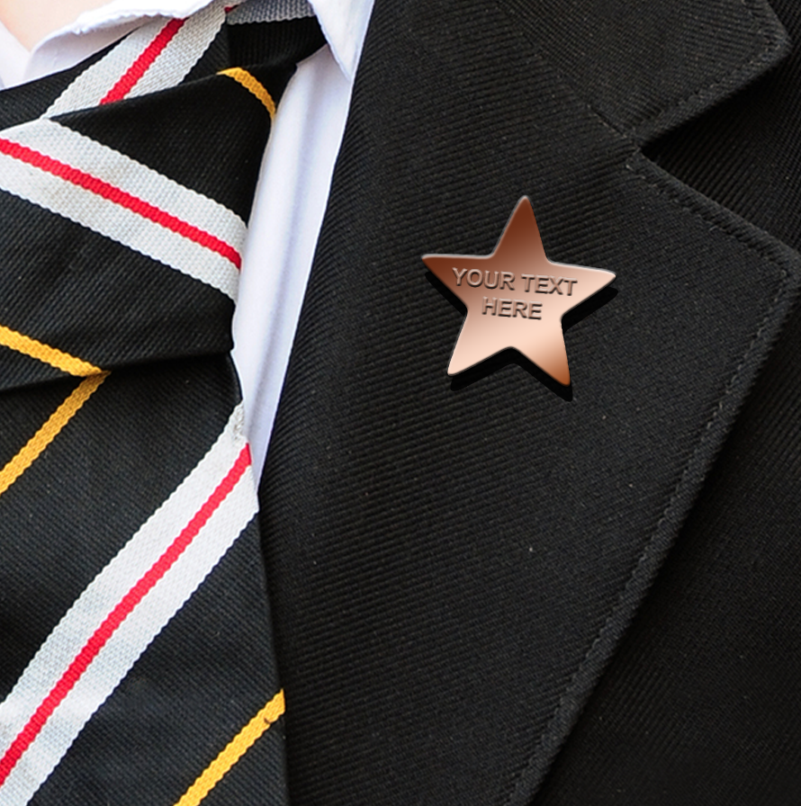 EMBOSSED STAR BADGES BRONZE
