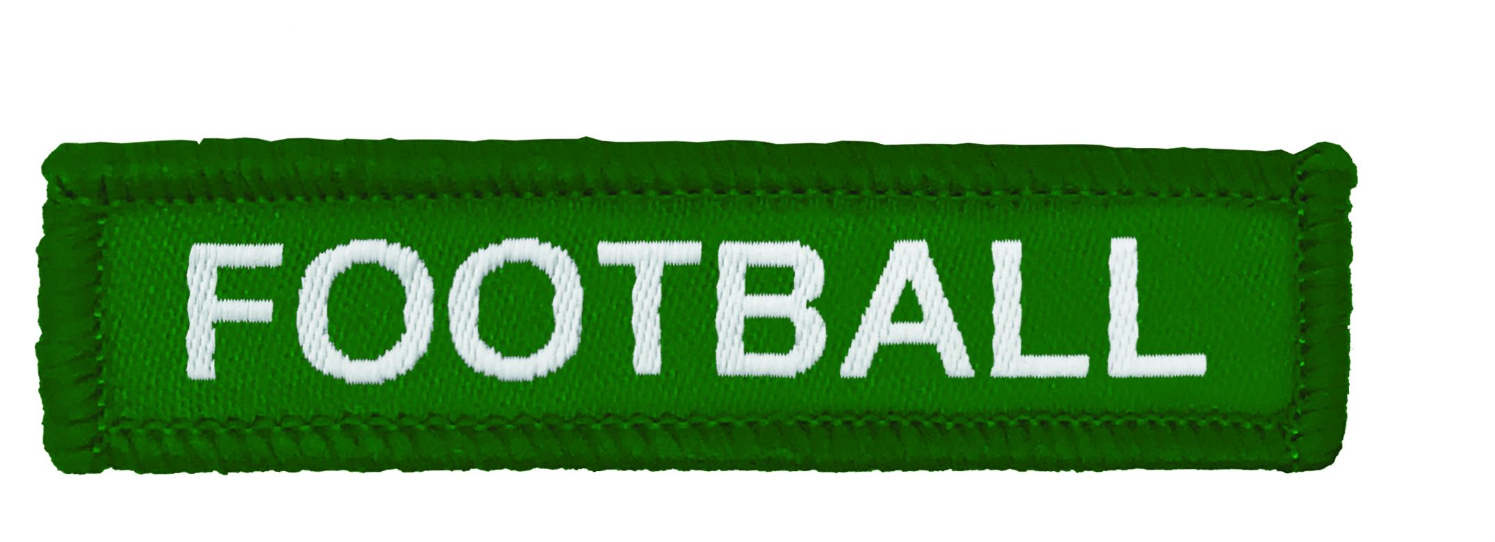 Green Woven Football Badge