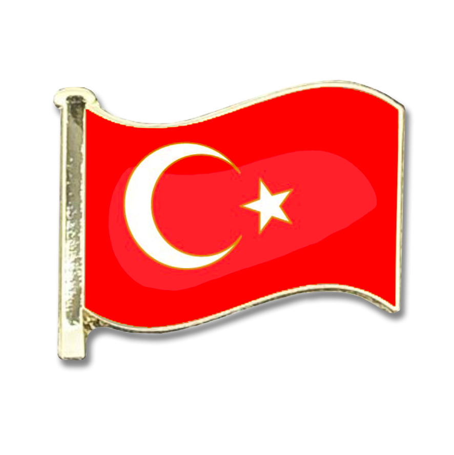 Turkey Flag Badge