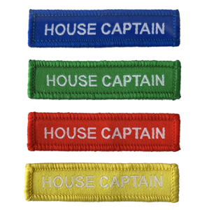 House Captain Woven Patches