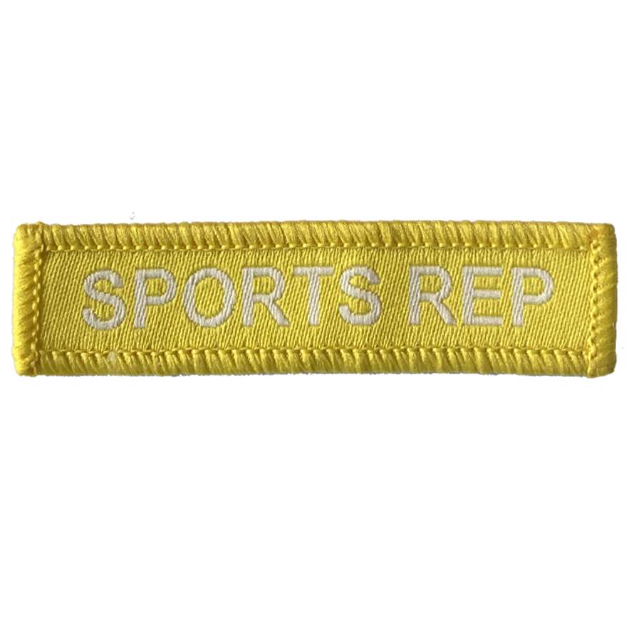 Sports Rep Woven Patch Yellow