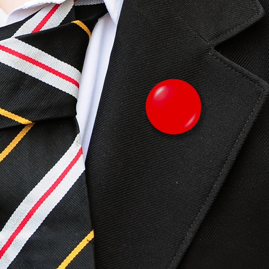 Plastic Button Badges Red