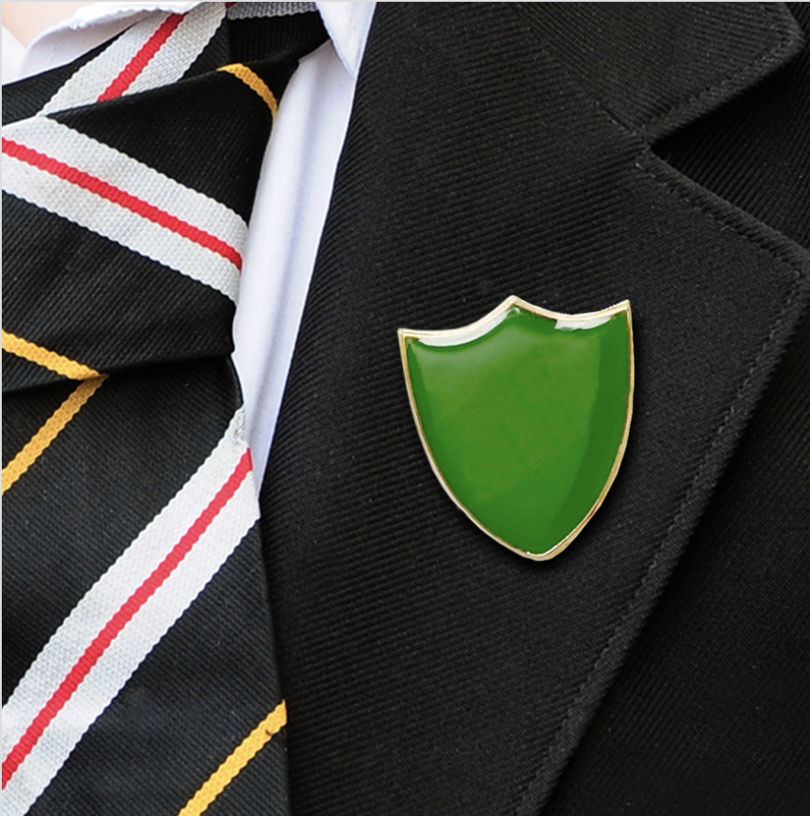Plain shield badges green