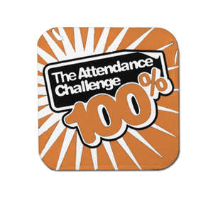 100% Orange Attendance Challenge Badge