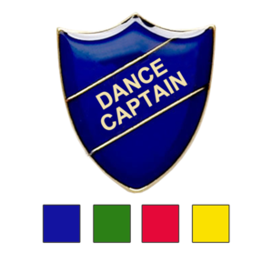 Dance Captain shield school badges