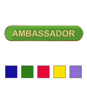 Coloured Bar Shaped Ambassador Badge