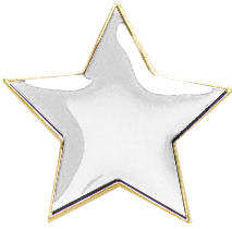 Star Badge White