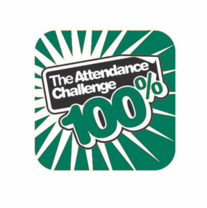 100% Green Attendance Challenge Badge