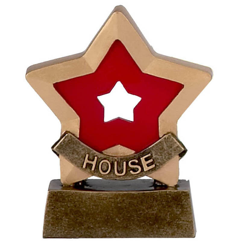 House (Red) Mini Star Trophy
