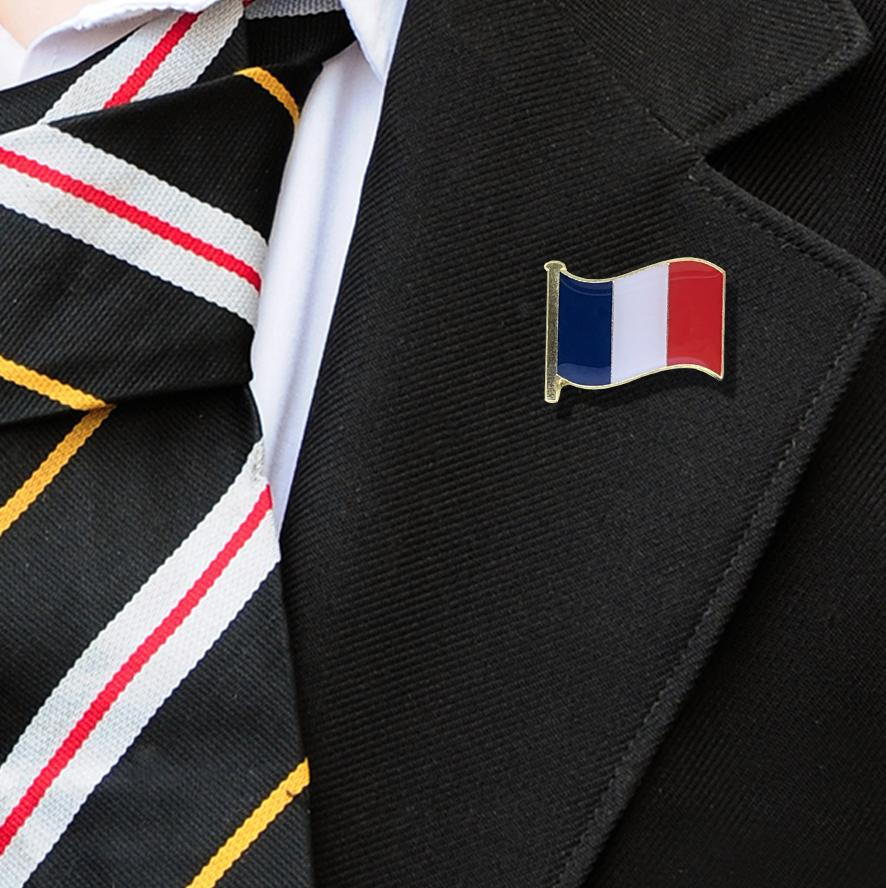 France Flag Badge on Lapelle