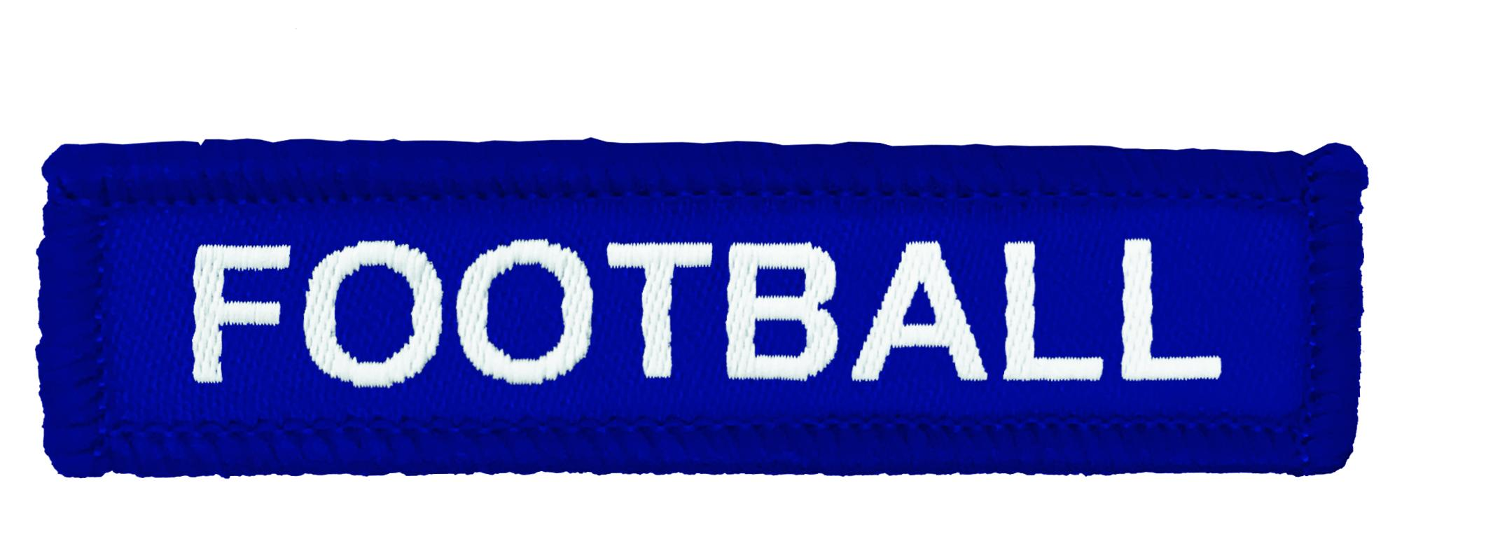 Blue Woven Football Badge