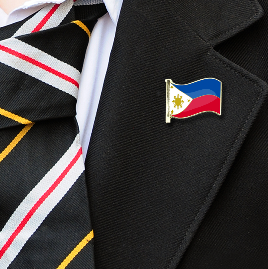 Phillipines Flag Badge on Lapelle