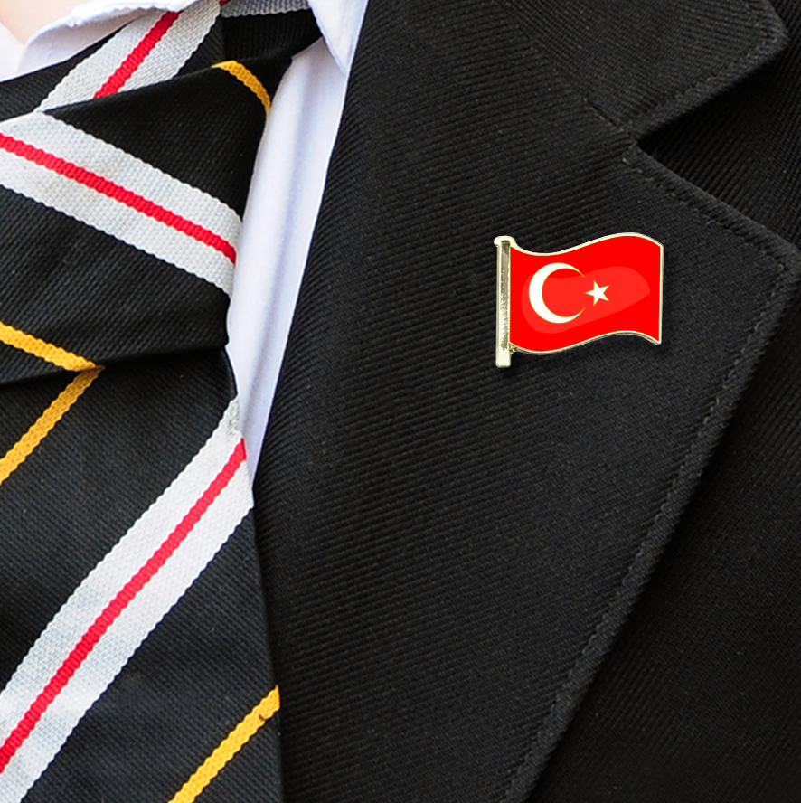 Turkey Flag Badge on Lapelle