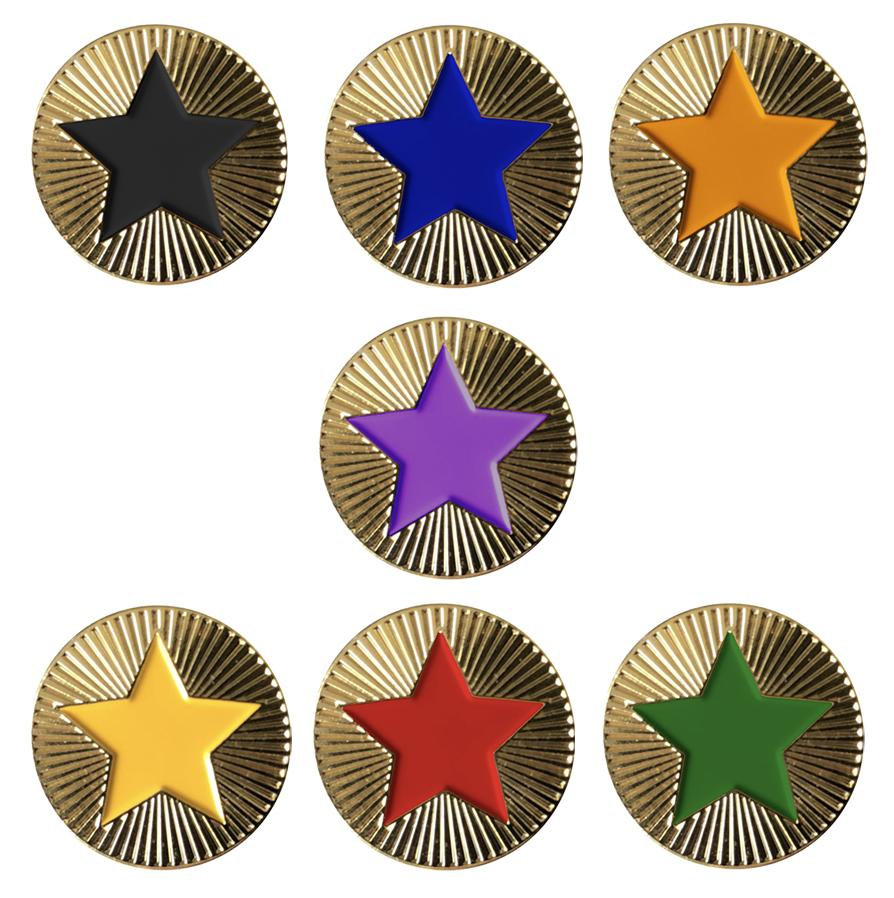 Round with Star Badges