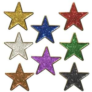 Star Shaped Glitter Badges