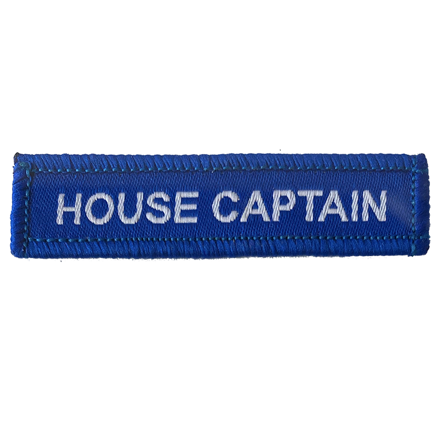 House Captain Woven Patches Blue