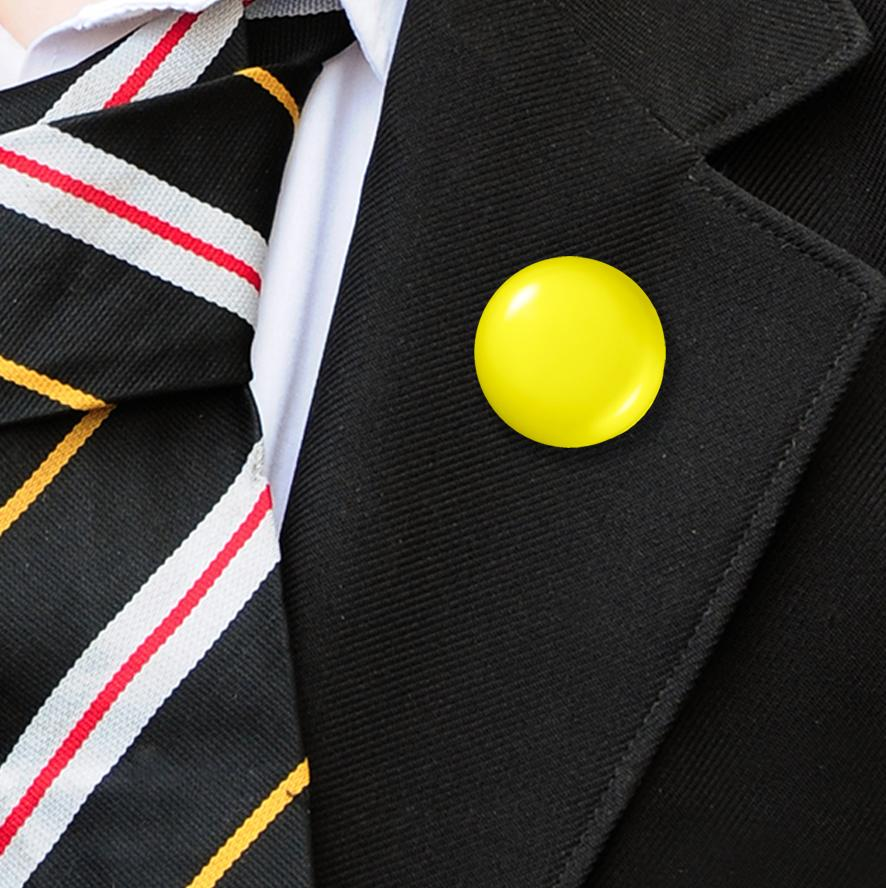 Plastic Button Badges Yellow