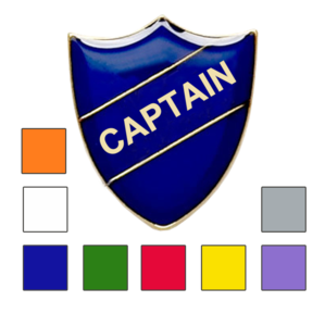 captain shield school badges
