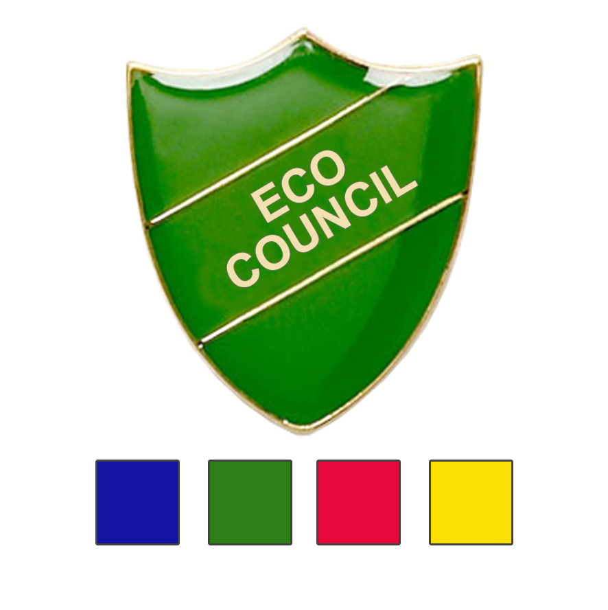 Eco Council School Badges Shield