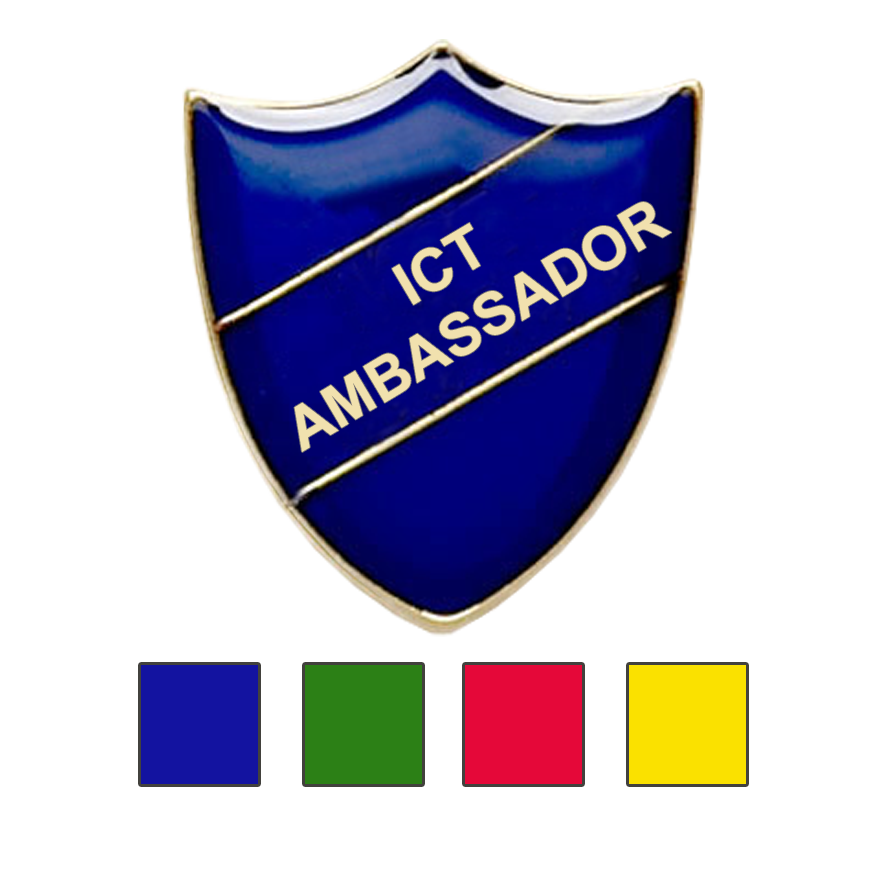 ICT Ambassador school badge shield