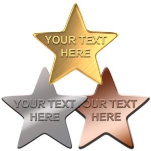 EMBOSSED STAR BADGES