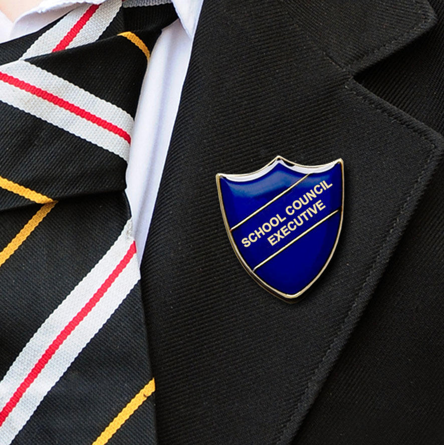 Blue Bar Shaped School Council Executive Badge